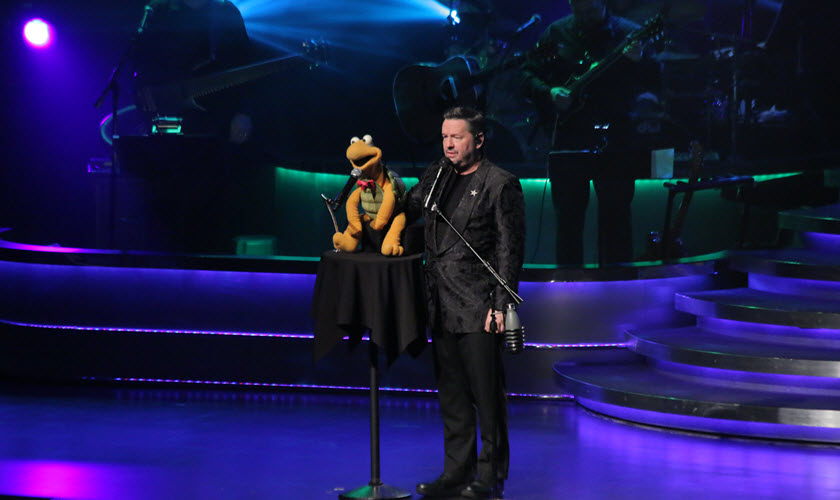 Terry Fator with Winston
