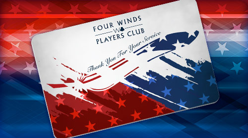 Four Winds W Club Veterans Card